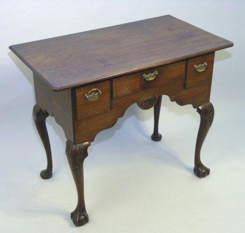 1164: A mid 18th century mahogany lowboy, 2ft 11ins