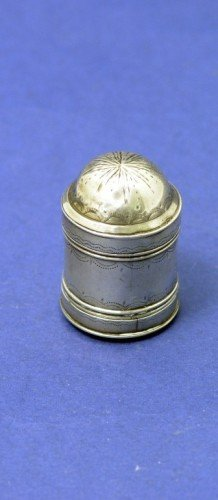 1632: A George III silver nutmeg grater, 1.25ins