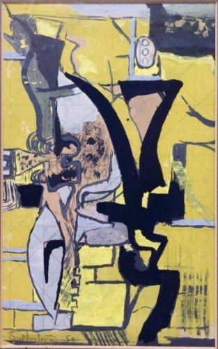 2657: Graham Sutherland (1903-1990) Yellow abstract, 10