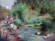 2682: Henry John Yeend King (1855-1924) Girl and calves