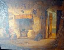 2707: Edward Bell (19th C.) A fishermans dwelling, Dove