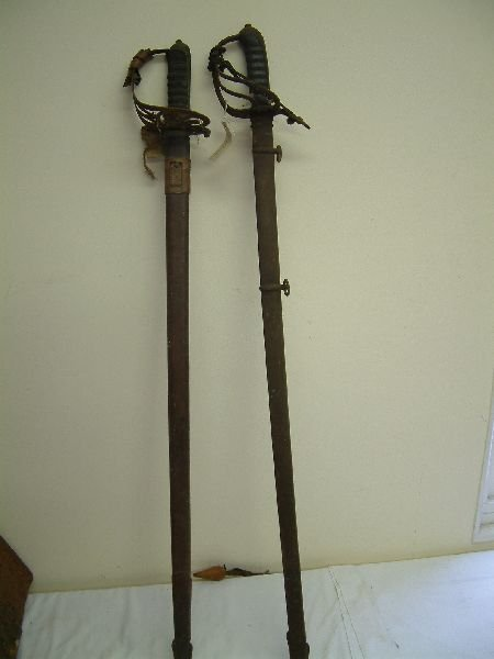 210F: Two 19th Century officer's swords,