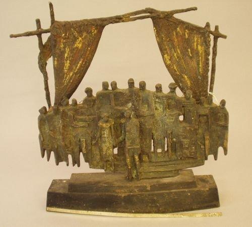 18E: Willi Soukop (1907-1995) - a bronze group of a cas