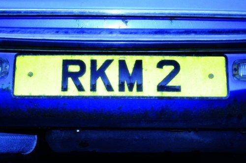 28: RKM 2 - Vehicle Registration Plate on MOT'd Austin
