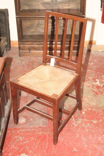 942: An Edward VII coronation service chair,