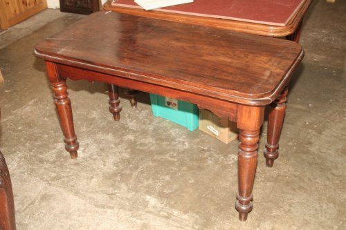 945: A Victorian mahogany side table, 4ft 1ins