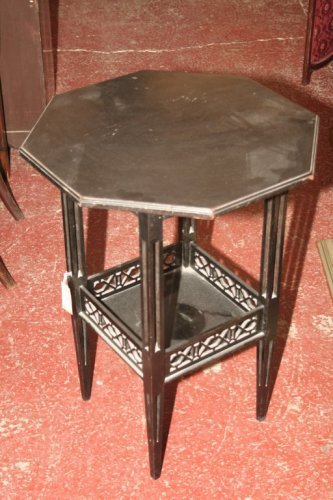 952: A Victorian ebonised octagonal occasional table, 1