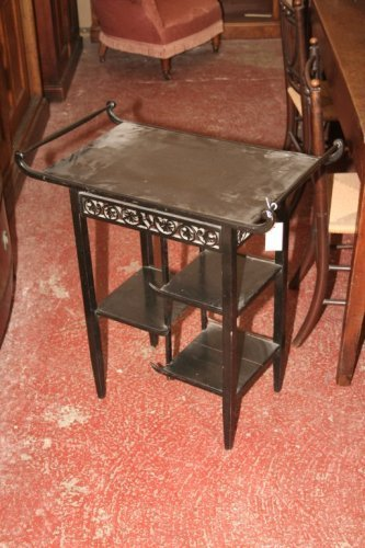 953: A Victorian ebonised whatnot, 2ft 4ins