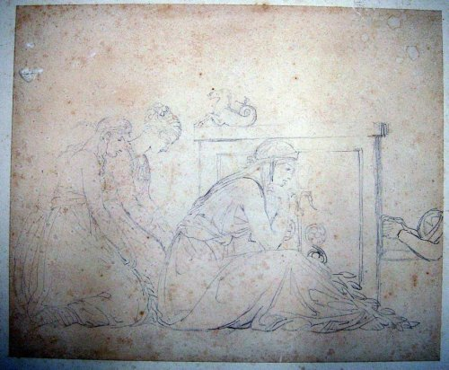 1962: Sir John Flaxman (1755-1826) Study for Darias wit