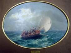 1963: G.Gianni (19th C.) Italian Fishing boat at sea, o