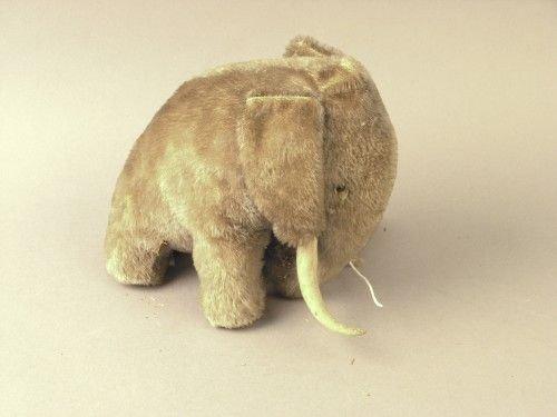 4A: A Steiff blue plush mammoth