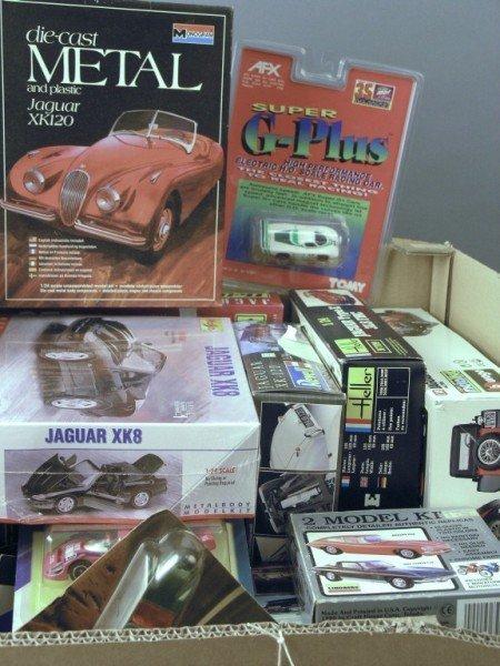 22: Ten Jaguar kit models and various small-scale model