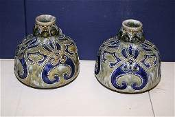 716 A pair of Royal Doulton vases by Frank Butler