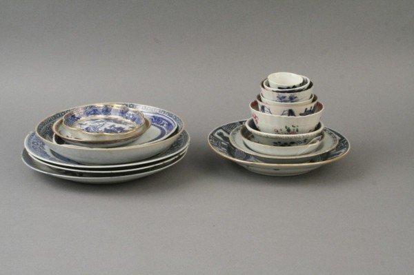 759: *A Chinese 'Kraak' porcelain dish, some damage (18