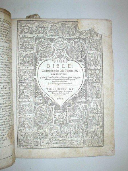 1597: BIBLE (ENGLISH), Early 17th century
