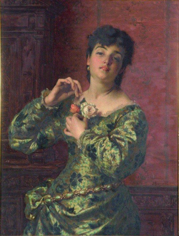 2288: Raffaele Giannetti (1832-1916) Italian Portrait o