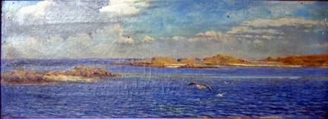 2314: Attributed to J.C.Hook (1819-1907) Scottish coast