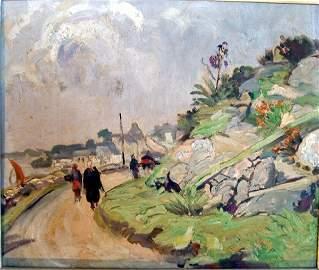 2613: English School Coastal landscape, 14 x 17 ins.