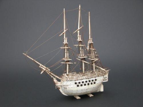 9E: A Napoleonic Prisoner-of-War bone model of a man o'