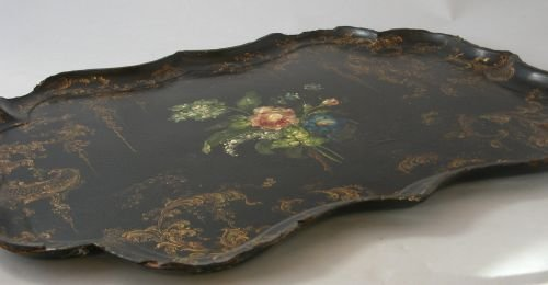 10E: A Victorian papier mache tea tray