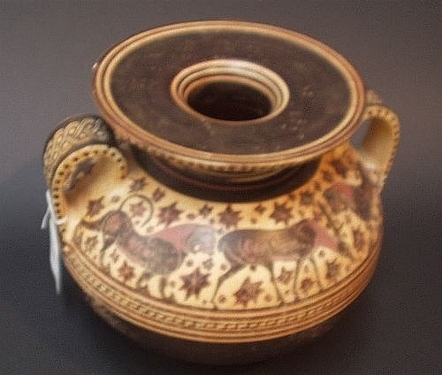 16E: Four Museum copies of Greek terracotta bowls and a