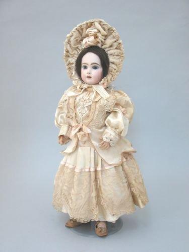 22E: A Jumeau bisque head doll marked 10, circa 1880