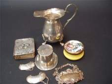 441E A Victorian silver and silvergilt novelty top ha