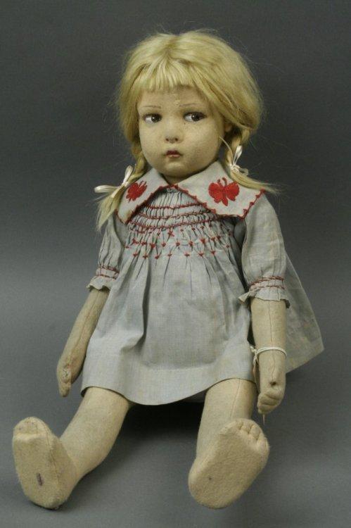 3: A Lenci-style cloth doll, 20in.