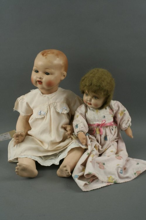 4: An English doll and a composition doll