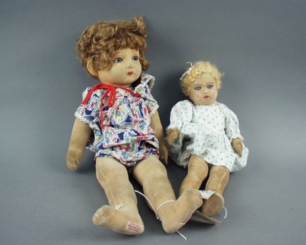 5: A Chad Valley 'Bambina' cloth doll & one by Chad Val