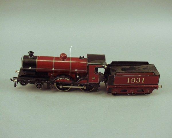15: Bing for Bassett Lowke gauge O locomotive & tender,