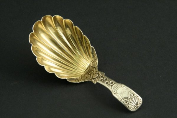 1586: George IV fiddle and shell pattern silver and par