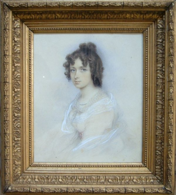 2371: 19th C. English School Portrait of a young lady,