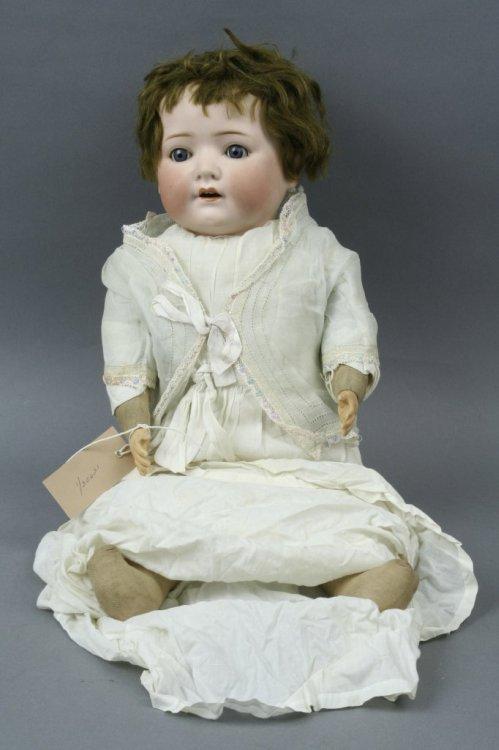 6: An Heubach Koppelsdorf bisque doll, 22in.