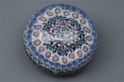 869: A mid-19th century Clichy paperweight, 2.75in.