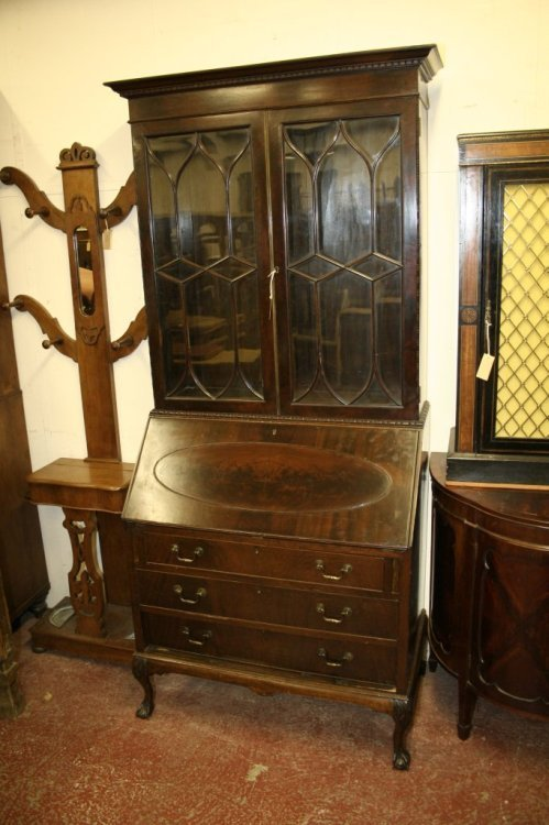 964: A 1920's Georgian design bureau bookcase, 2ft 11in