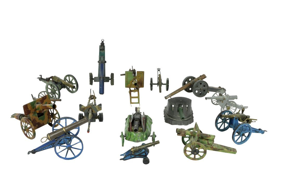 Collection of 15 Toy Canons