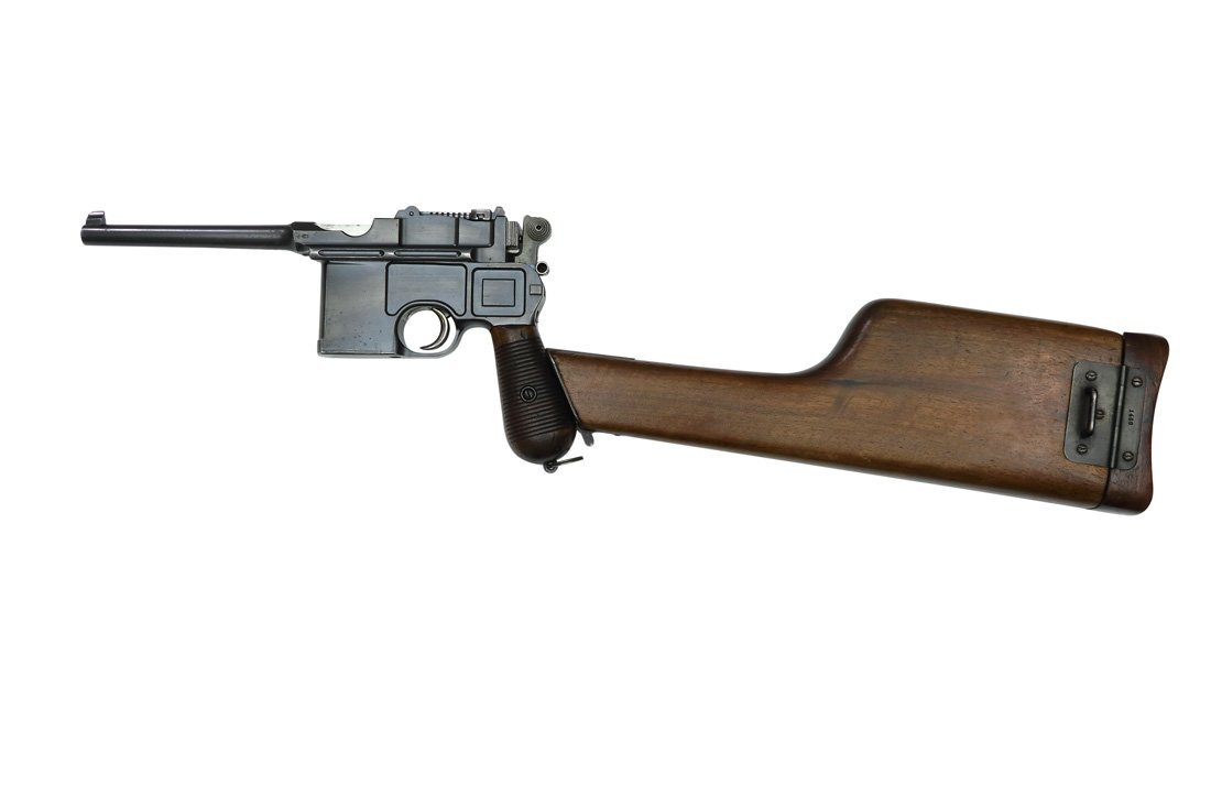 A rare Mauser C96, with JOHN RIGBY Engraved Barrel
