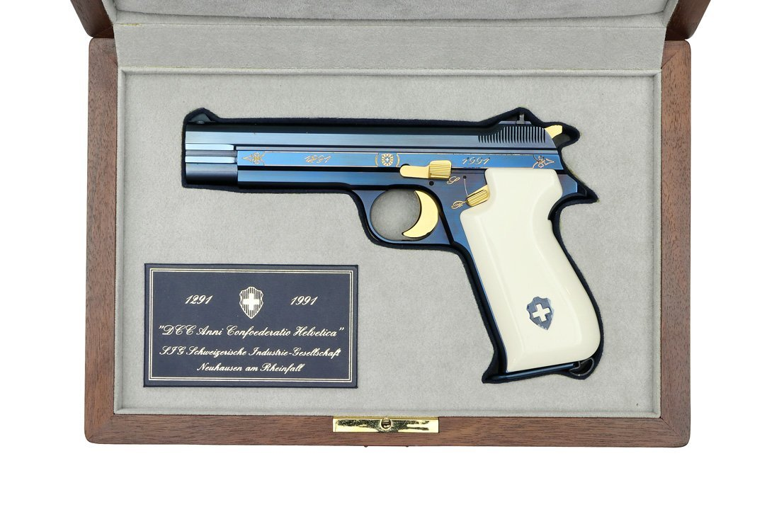 SIG P210 Commemorative Pistol: 700 Years Switzerland