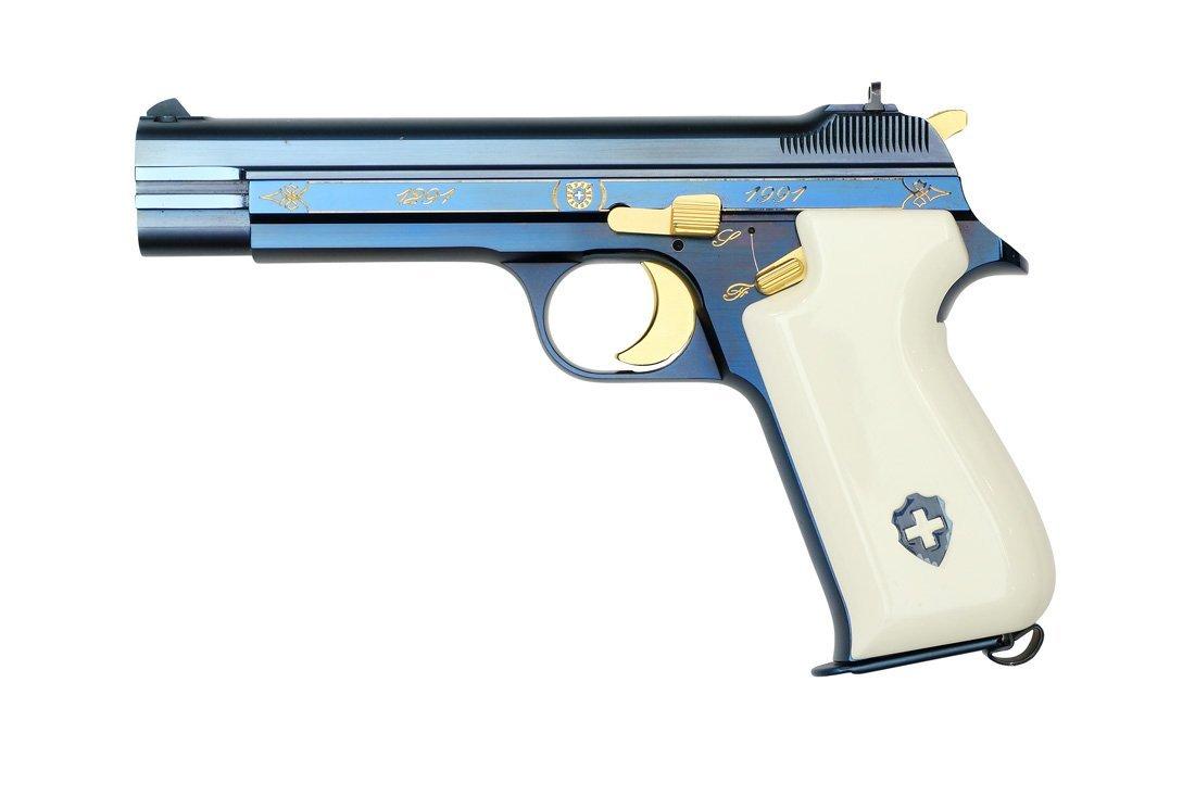 SIG P210 Commemorative Pistol: 700 Years Switzerland - 3