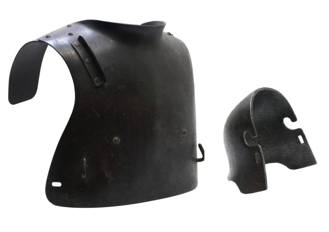 Rare WW1 German Body Armour/Helmet Plate