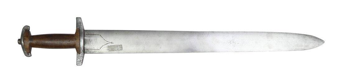 Swiss Sword, in style of ca. 1500, L 62,4cm