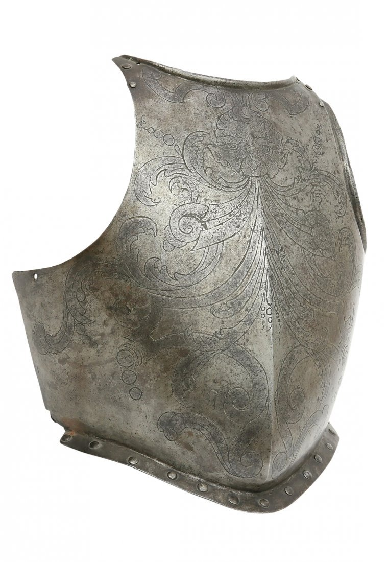 Breastplate, Italian, 1st half of 17th cent., Swiss