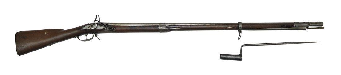 Flintlock Rifle, German, ca. 1790, Cal. 18mm