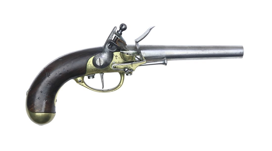 Flintlock Pistol, French, M 1777, Cal. 18mm