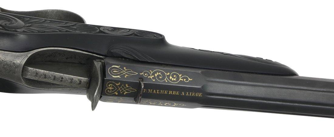 Cased Target Pistol, Belgian ca. 1860, cal. .22 - 4