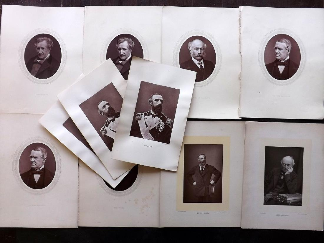 Photographs - Portraits C1890 Lot of 11 Woodburytype