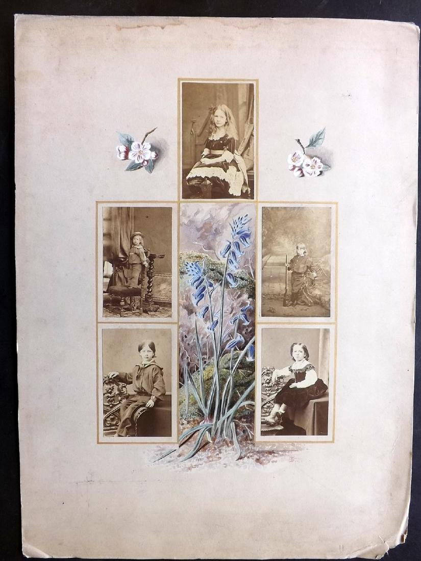 Photographs & Original Art 1873 Children on Art Leaf