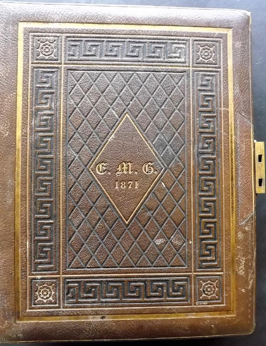 Photo Album 1873 Leather Bound. 100+ Photos