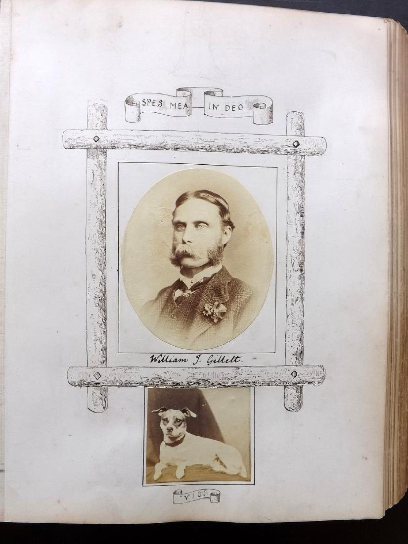 Photo Album 1873 Leather Bound. 100+ Photos - 4